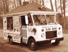 Jack Martin's '61 Chevy Bungalow Bar Ice Cream van.  The only one ever built